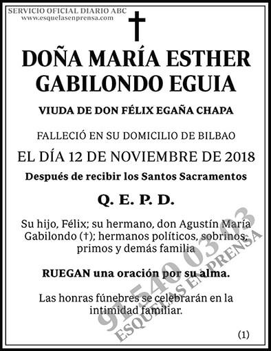 María Esther Gabilondo Eguia